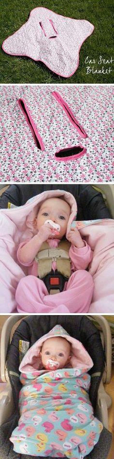 DIY Hooded Car Seat Blankets   http://savvy-living.com/post/41035964736