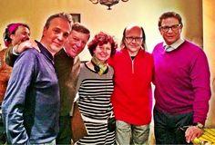 Jorge y Cesar @LosMorancos  Aquí con Iziar Bollain @DavidsummersHG @SSantiagosegura y César y yo compartiendo rodaje encantados.