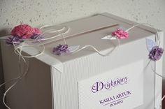 kopertówka pudełko na koperty od gości weselnych