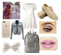 """""""ready for school"""" by skyeacker9 on Polyvore featuring Glamorous, Casetify, LE3NO, Fiebiger and Candie's"""