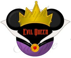Evil Queen character (Snow White) inspired personalized printable digital Mickey head file DIY on Etsy, $3.00