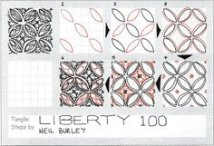 zentangle patterns step by step | this is my 100th published tangle pattern it s a step by step ...