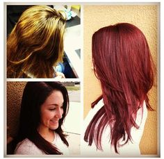 Fall hair color- liking the red again