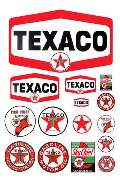 1:25 Escala G Modelo Texaco Station Essence Gas signos