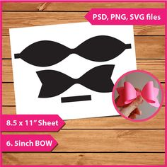 Layer Template 6.5 inch 3D Bow template Instant Download