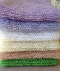 Stretch knit wrap Mohair wrap newborn photo by LavenderBlossoms