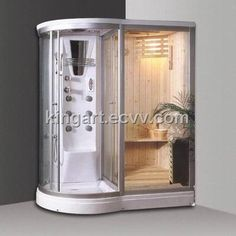 Combination Steam Shower Sauna put in my Tropical bathroom maybe Steam Showers Bathroom, Bathroom Spa, Tropical Bathroom, Saunas, Walk In Bathtub, Jetted Bathtub, Jacuzzi, Sauna Shower, Wrought Iron Doors