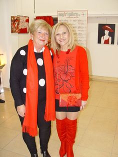 Our curator Rigatou Maria with artblocker Konta Mary from ARTPORTAL Mary, Passion, Sweaters, Red, Sweater, Sweatshirts