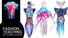 Fashion collection inspired by the sea life and the universe