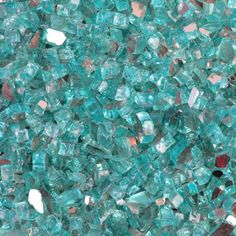 Fire pit glass - Quarter Inch Caribbean Blue Reflective Fire Glass, 10 Pound Bag,  #planters #firepit $47 for 10 pounds