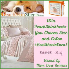 Want some new sheets? Enter to win a set of PeachSkinSheets here!