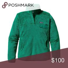 Green Patagonia Re-Tool Snap-T Fleece Pullover Emerald green, XS, worn but in great condition, no stains or holes, $100 OBO Patagonia Jackets & Coats
