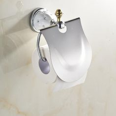 white ceramic Toilet Paper Holder,Roll Holder,Tissue Holder,Solid Brass Chrome+Gold Finished-Bathroom Accessories Products