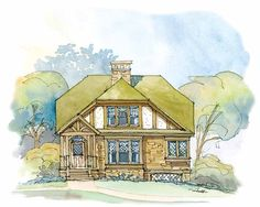 Eplans Tudor House Plan - Sweet Tudor Cottage - 1319 Square Feet and 2 Bedrooms from Eplans - House Plan Code HWEPL07585