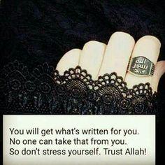 keep trusting on Allah