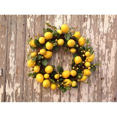 """You'll love the 18"""" Lemon Leaf Wreath at Wayfair - Great Deals on all Décor  products with Free Shipping on most stuff, even the big stuff."""