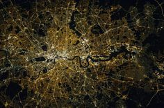 Awesome new Nasa picture shows London as seen from space at night Earth And Space, London Pictures, London Photos, West London, Budapest, Houston, Nasa Pictures, Nasa Photos, London Night