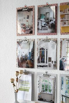 Decorate the office with clipboards and artwork or pictures that inspire you.