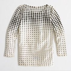 J. Crew Abstract Dot Top - perfect for work and play!