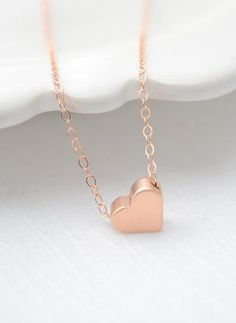 Rose Gold Heart Necklace rose gold necklace