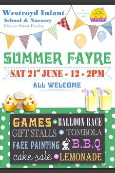 PTA summer fair poster