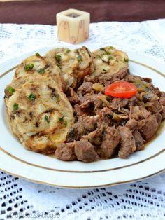 Zelleres vaddisznópörkölt szalvétagombóccal Beef, Recipes, Food, Meat, Rezepte, Essen, Ox, Ground Beef, Recipe