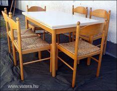 Bővíthető étkezőgarnitúra , hat szék és egy bővíthető asztal , nagyon szép állapot !