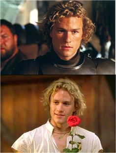 oh my god heath ledger in a knights tale.....<3 him and the movie