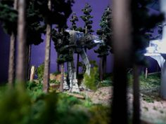 Endor Imperial Landing Port (with TOMY Imperial AT-AT) by どろぼうひげ