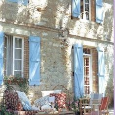 french provençal outdoor seating and day bed