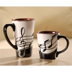 Music Notes Tall Latte Mug