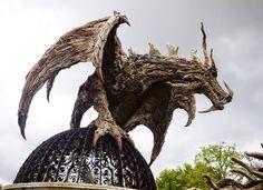 The Driftwood Dragon by James Doran-Webb driftwood sculptor