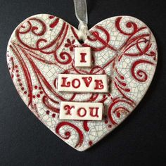 *Idea & Glaze* Pottery ceramics clay glaze heart love red swirly | Pottery | Popular Crafts | Craft Juice