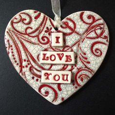 Pottery ceramics clay glaze heart love red swirly | Pottery | Popular Crafts | Craft Juice
