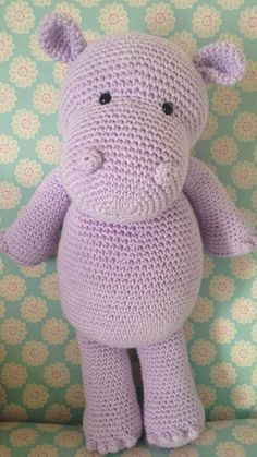 Heart & Sew: Happy Hippo - Free Crochet / Amigurumi Pattern