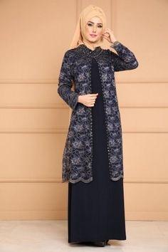 Cardigan Looking Hijab Evening Dress Emerald Dress Brukat, Hijab Style Dress, Batik Dress, Dress Brokat Muslim, Muslim Dress, Batik Fashion, Hijab Fashion, Fashion Dresses, Hijab Evening Dress
