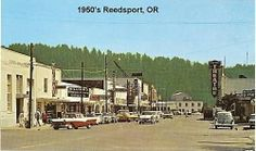 Reedsport, OR (postcard), Southern Oregon Coast, Newport Oregon, Old Postcards, Vintage Pictures, Past, 1950s, Street View, Vacation, Diners