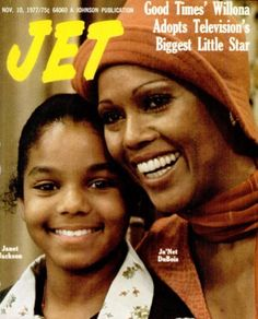 "Janet Jackson and Ja'Net DuBois of ""Good Times""- Jet magazine covers The Jackson Five, Jackson Family, Janet Jackson, Jet Magazine, Black Magazine, Good Times Tv Show, Ebony Magazine Cover, Magazin Covers, Vintage Black Glamour"