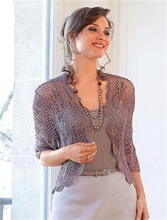 Créaline® Ladies Metallic Crocheted