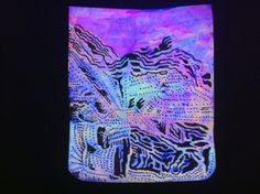 Ron Regé, Jr.: tiny neon blacklight drawings for sale...