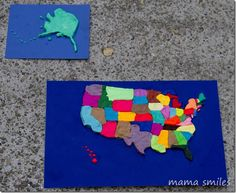 Learn US geography - by mapping the United States using Play-Doh! Such an awesome hands-on learning activity for kids!