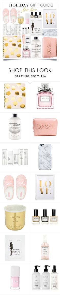 """""""Holiday Gift Guide For Her"""" by m-olla ❤ liked on Polyvore featuring beauty, Sugar Paper, Christian Dior, philosophy, NARS Cosmetics, Uncommon, White Label, Lipsy, Tom Dixon and Balmain"""
