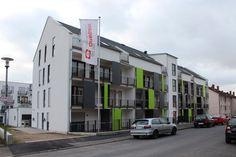 Cicero Apartmentshaus in Aschaffenburg nach Fertigstellung, Ansicht Beckerstraße