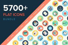 5700+ Flat Icons Bundle by Vectors Market on @creativemarket