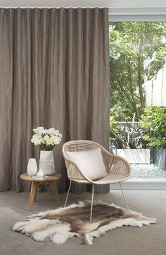 S fold or ripple fold lined curtains in James Dunlop fabric Wooden Window Blinds, Curtains, Home Living Room, S Wave Curtains, Wave Curtains, Home Curtains, Window Coverings, Ripplefold Curtains, Curtains With Blinds