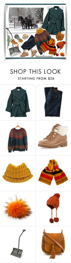 """Winter Blizzard Alert '"" by dianefantasy ❤ liked on Polyvore featuring Carven, DL1961 Premium Denim, MICHAEL Michael Kors, Hermès, Bobbl, Suncast, Chloé, Astis, polyvoreeditorial and winterstyle"
