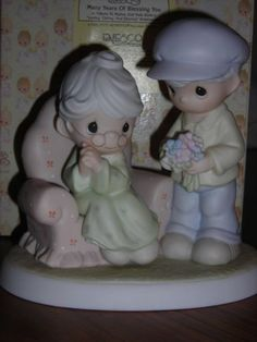 "Precious Moments ""Many Years of Blessing You"" - http://www.preciousmomentsfigurines.org/anniversary/precious-moments-many-years-of-blessing-you/"