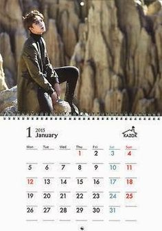 awesome Jung Min – 2015 Calendar