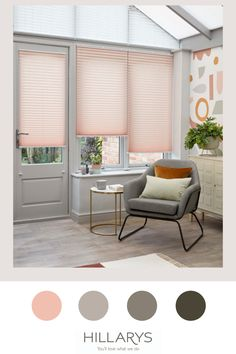 This gorgeous creped effect pink blind will warm up any room. Add a splash of colour to your conservatory with this blush pink tone - a modern neutral that is a fun, interesting alternative to cream or white that will draw people's attention and add a unique personality and style to your space. Pink will surprise you with its versatility, pair with a room filled with neutrals and floral patterns for a delicate, playful yet chic feel. Find out more. Conservatory Ideas, Pink Tone, Floral Patterns, Color Splash, Blush Pink, Blinds, Personality, Alternative, Neutral