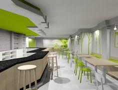 Stock coffee cafeterias modernas dise o de cafeter a y for Diseno de cafeterias pequenas